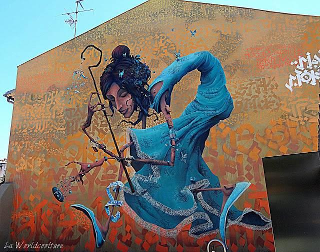 graffiti street art Toulouse Rose Beton monde et naye