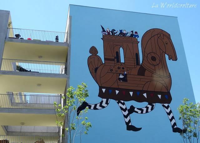 graffiti street art Toulouse Rose Beton Honet