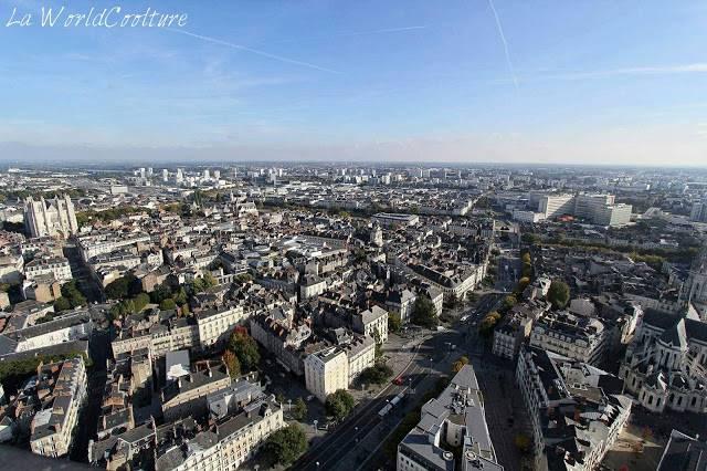 Point de vue depuis la tour de Bretagne Nantes Loire Atlantique France