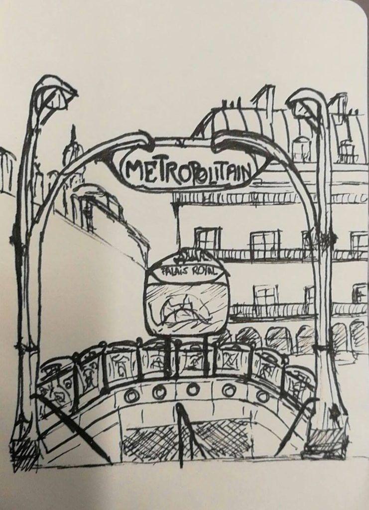 Croquis métro Paris