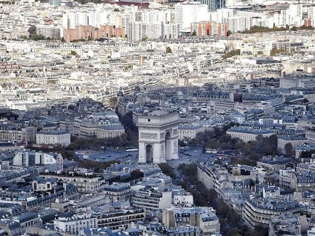 Arc de Triomphe et Place de l'Etoile Paris France
