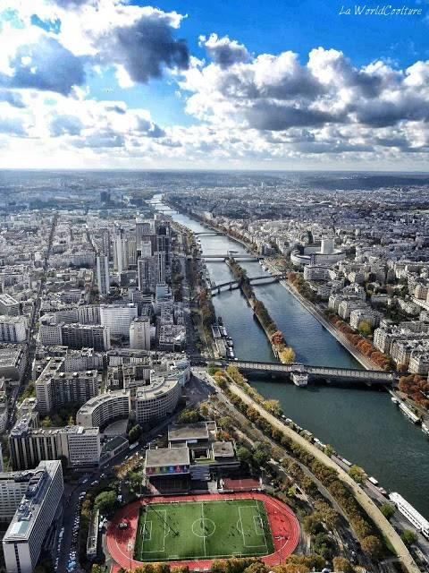 Seine depuis la Tour Eiffel Paris France