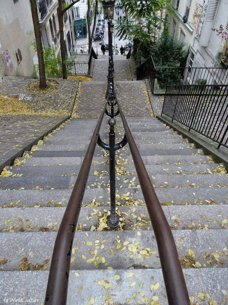 Escaliers de Montmartre Paris France