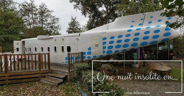 Nuit insolite en avion Camping le Haut Village Saint Michel Chef Chef Loire Atlantique