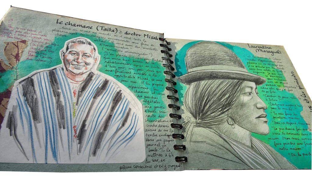 Stéphanie Ledoux extrait carnet de voyage en Colombie