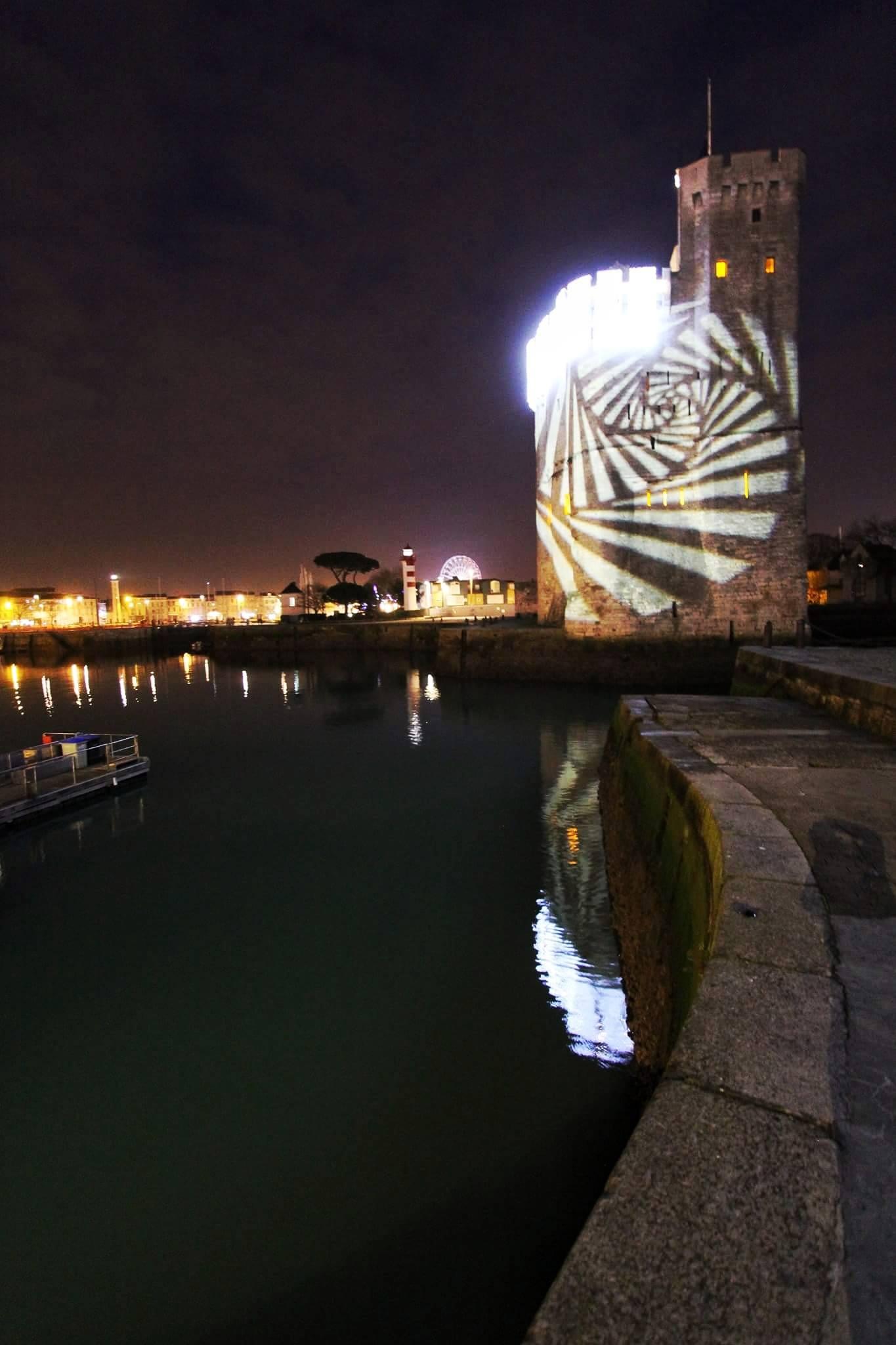 Port de la Rochelle illuminé