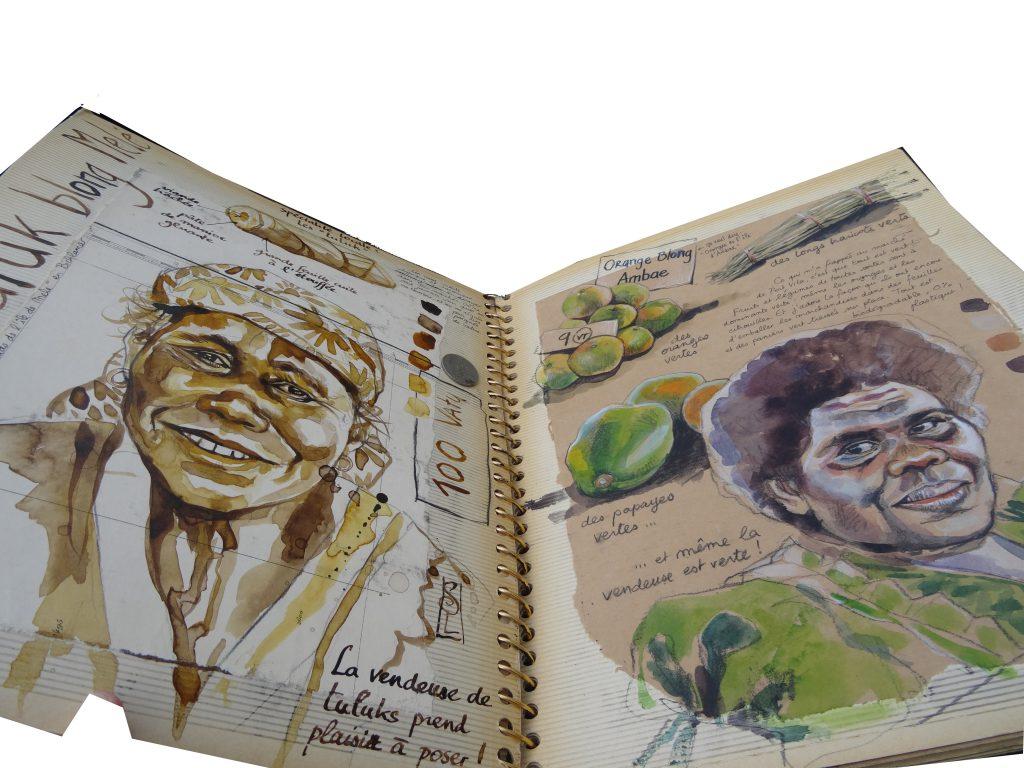 Stéphanie Ledoux extraits de ses carnets de voyage
