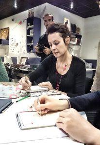 Stéphanie Ledoux atelier carnet de voyage Festival Terres d'ailleurs