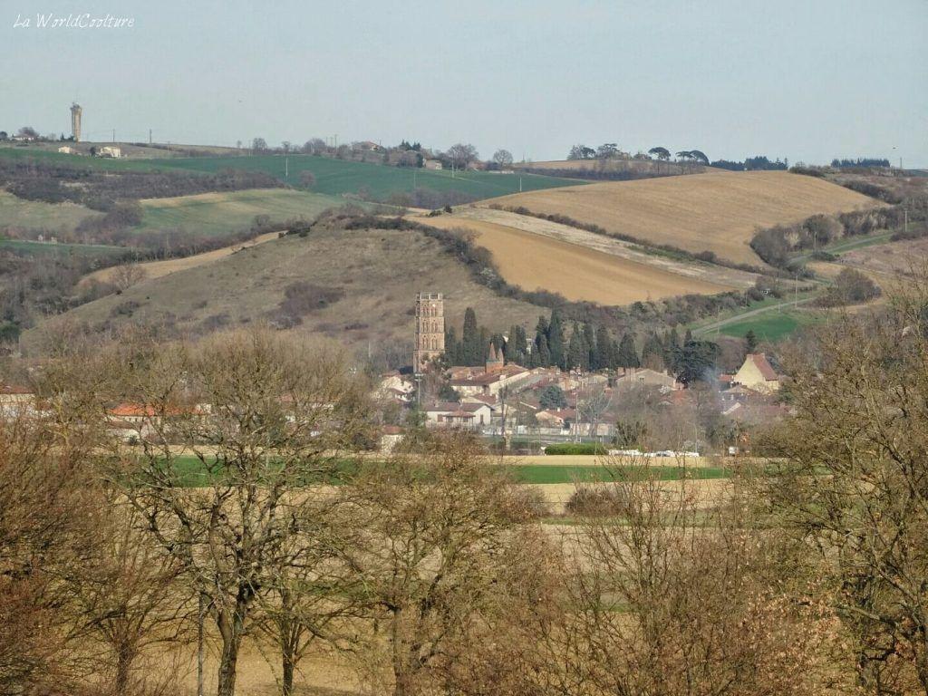 Rieux Volvestre Haute Garonne point de vue sur le village
