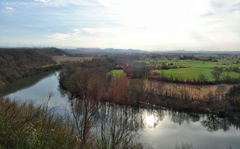 Rieux Volvestre Haute Garonne panorama de la randonnée chemin des Mules