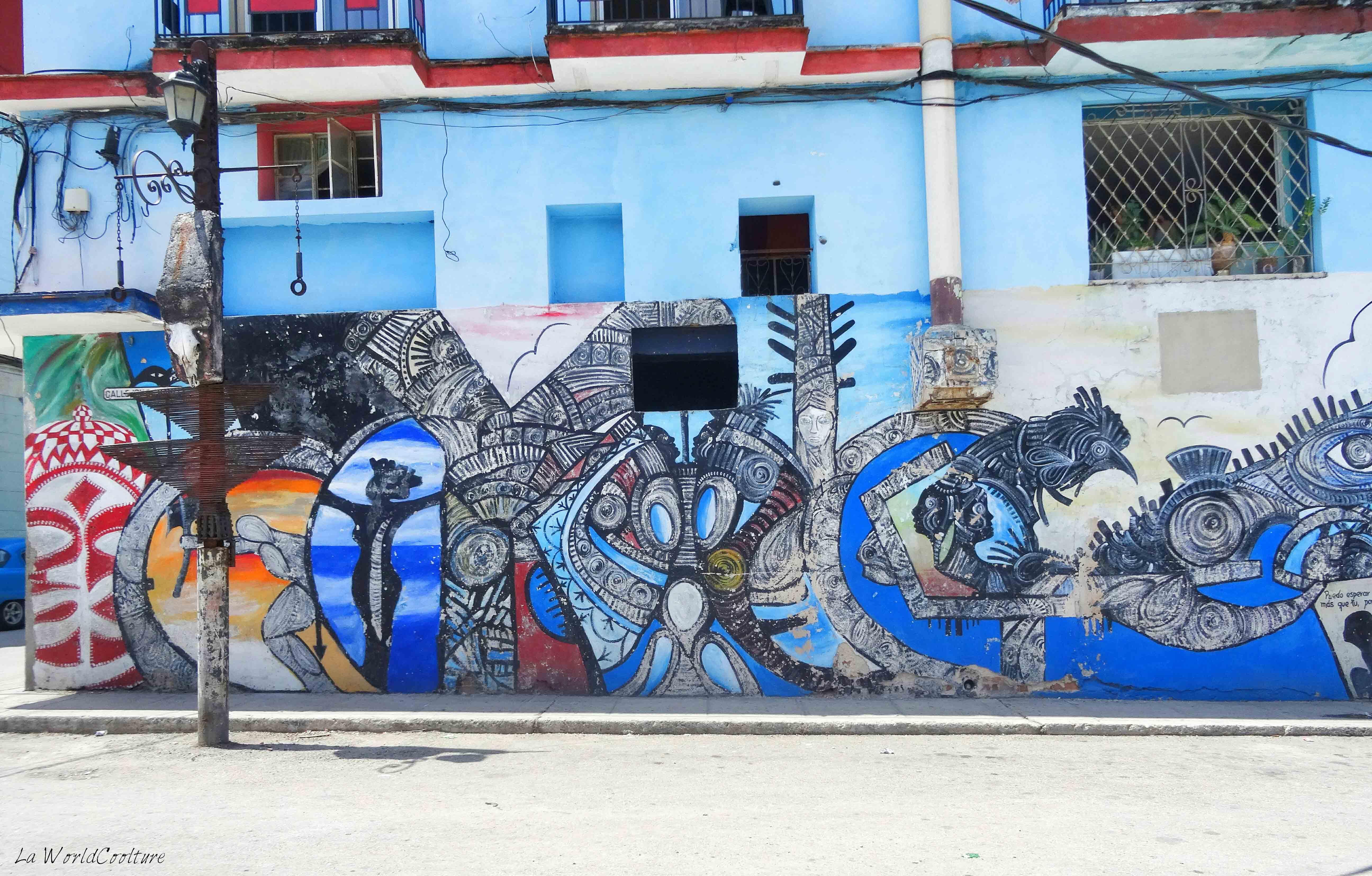 street art au Callejon de Hamel à La Havane Cuba