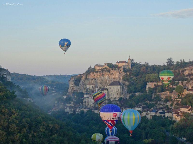 Montgolfiades de Rocamadour envol des montgolfières