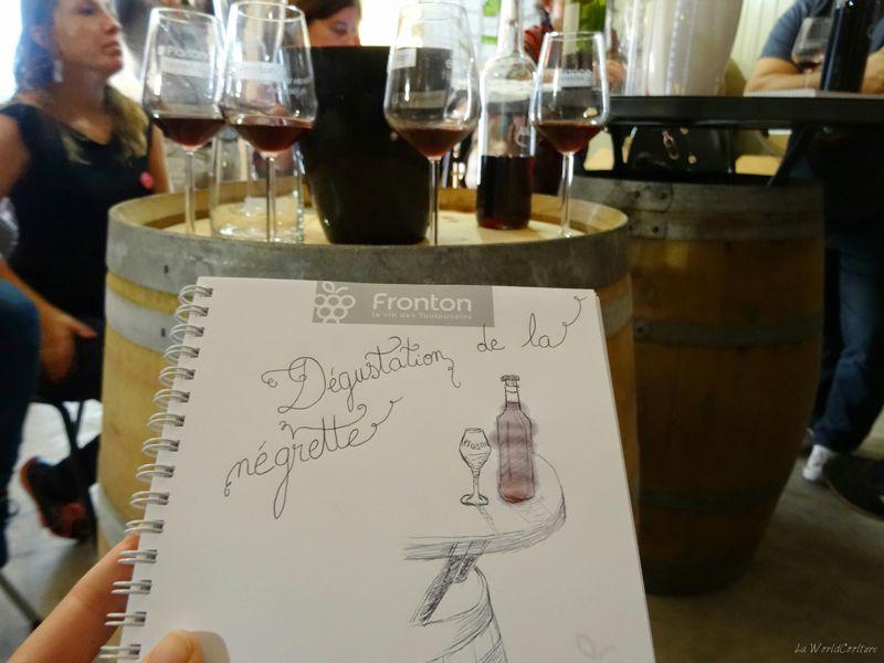 Oenotourisme en Haute Garonne dégustation de negrette AOP Fronton au chateau Plaisance