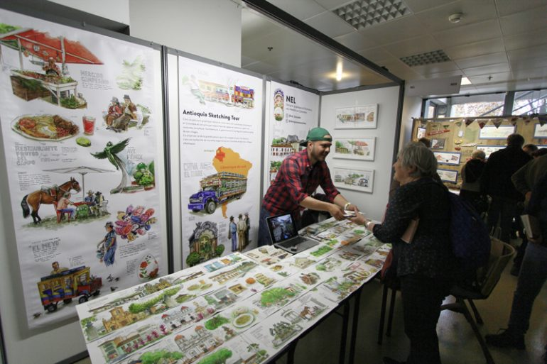 festival-carnet-voyage-2017-urban-sketcher-Nel-colombie