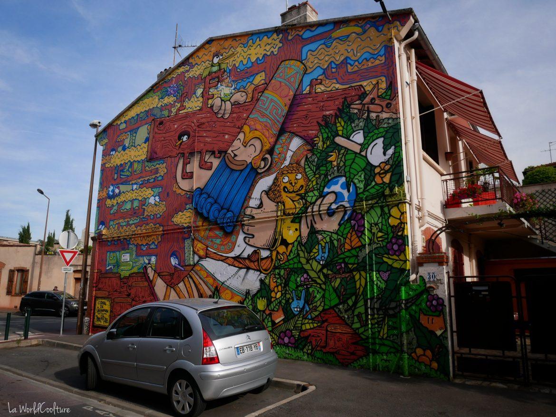 Street-art Toulouse Rose Béton