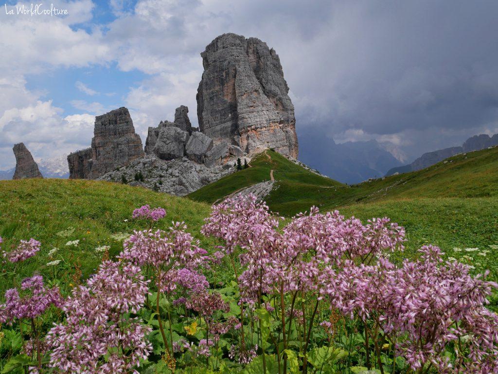 Cinque Torri paysage incontournable Dolomites Italie