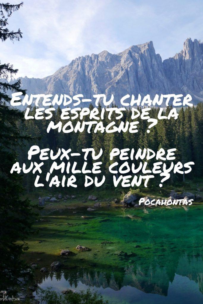Citation sur la montagne par Pocahontas