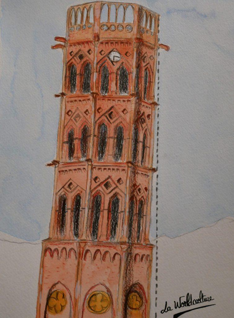 Rieux Volvestre croquis visite de la cathédrale