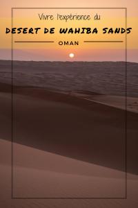 Vivre l'expérience du désert de Wahiba Sands à Oman - Pinterest