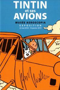 Visite Aeroscopia avec l'exposition sur Tintin