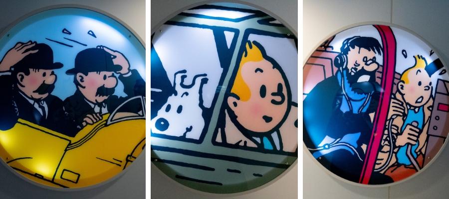 Exposition Tintin au musée Aeroscopia