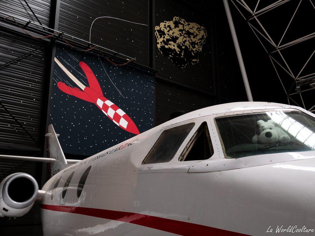 Exposition temporaire Tintin au musée Aeroscopia à Toulouse