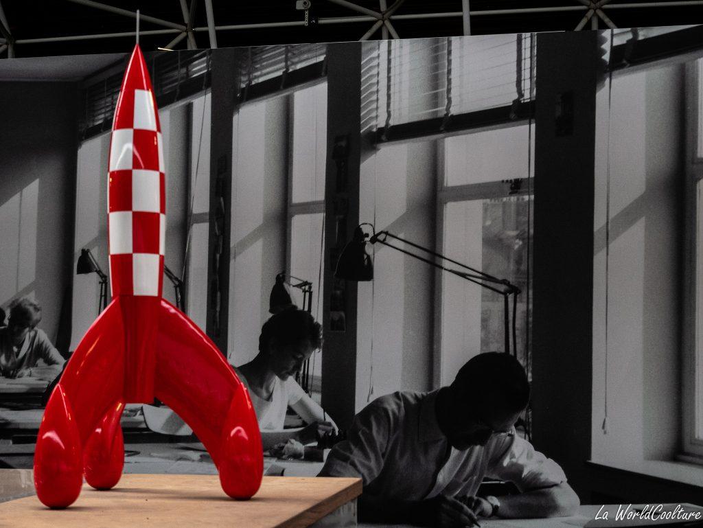 Hergé et les avions au musée Aeroscopia à Toulouse