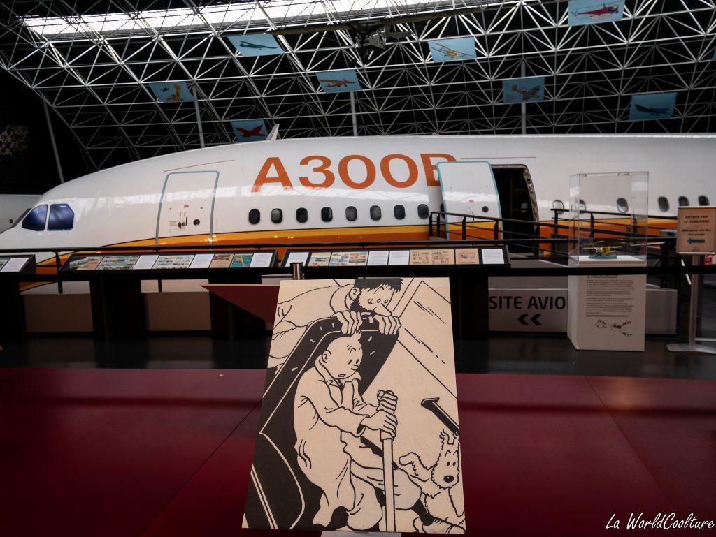 Hergé et Tintin au musée Aeroscopia à Toulouse