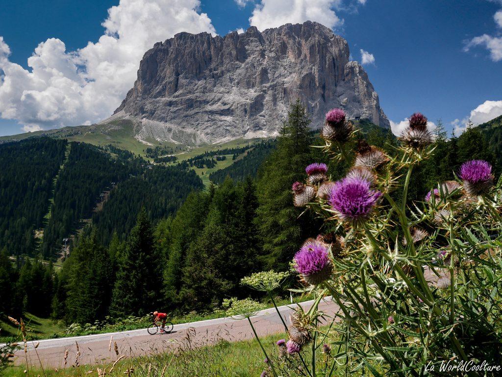 Les Dolomites et cyclisme