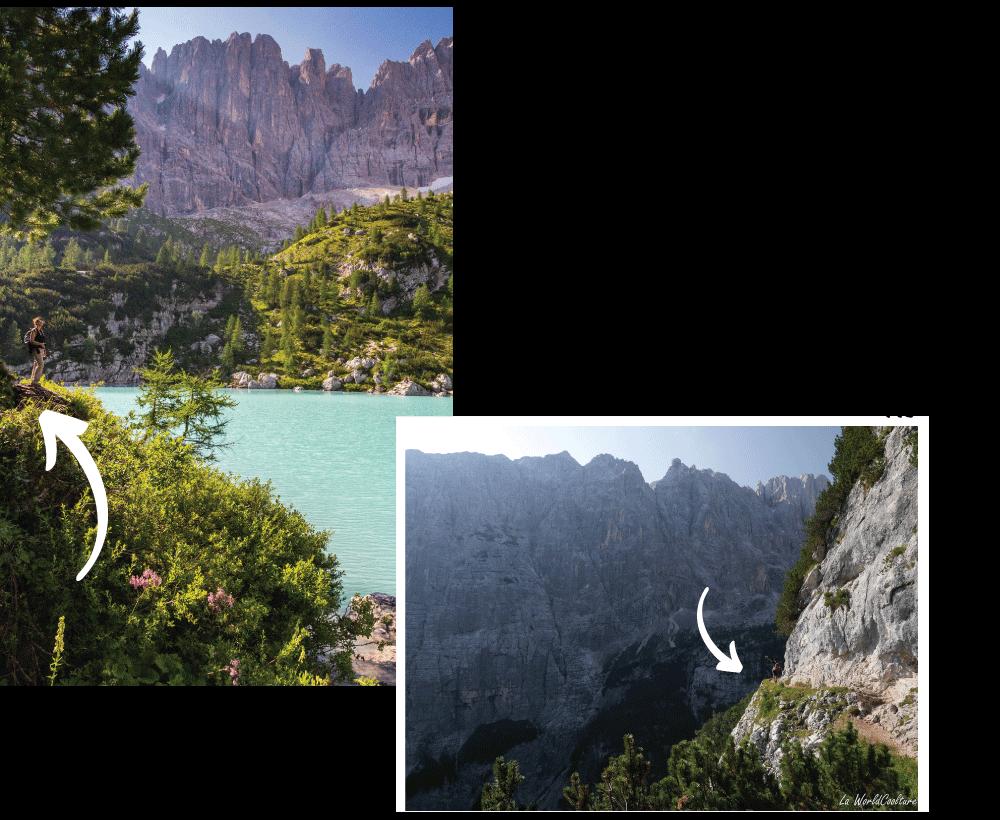 Endroits remarquables dans les Dolomites : le lac de Sorapis