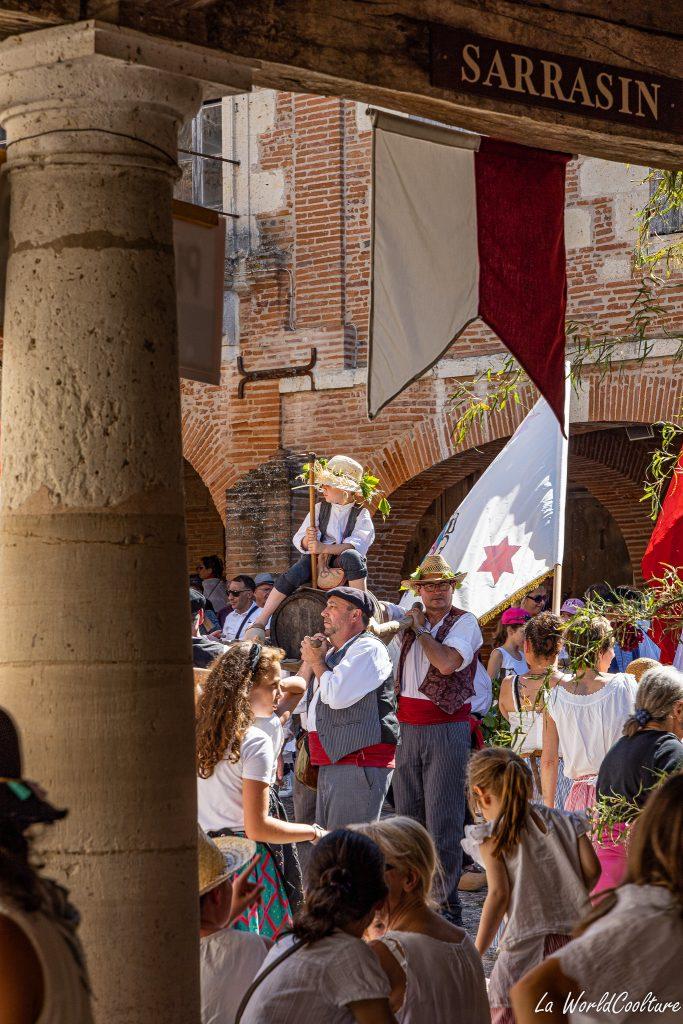 tradition fête de la saint-noé à Auvillar en Occitanie