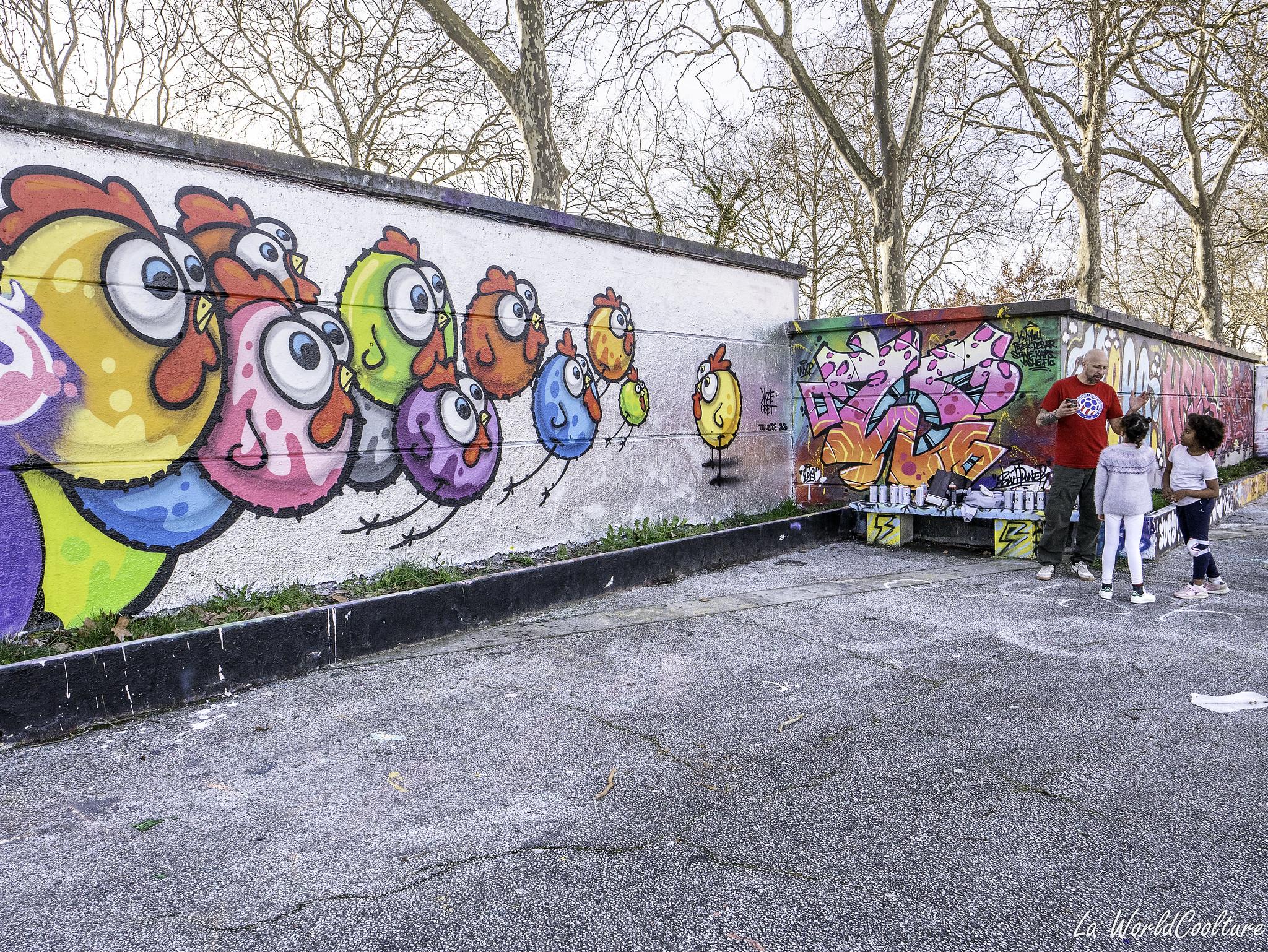 graffitis à Ramonville près de Toulouse