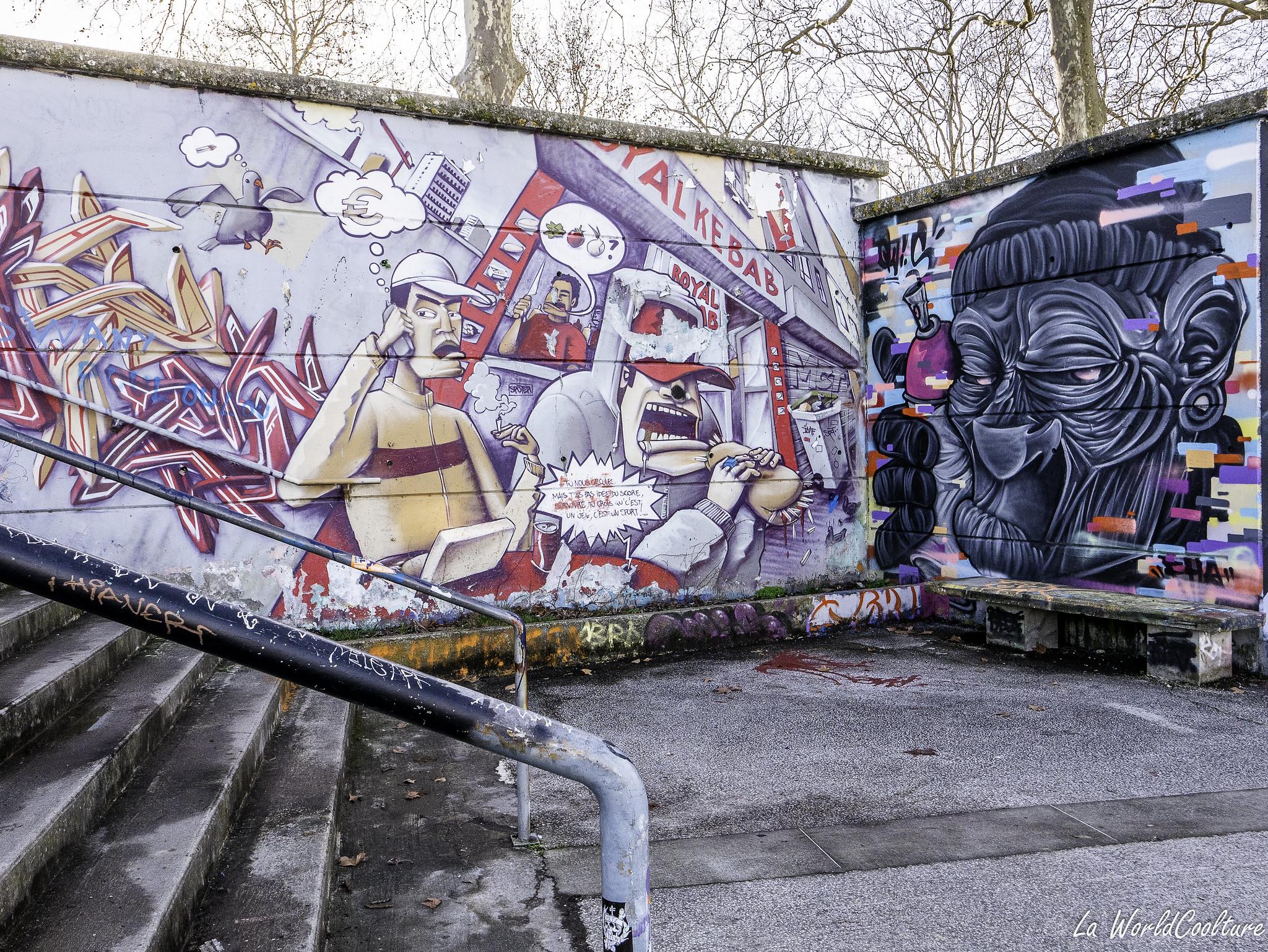 Street-art à Ramonville près de Toulouse