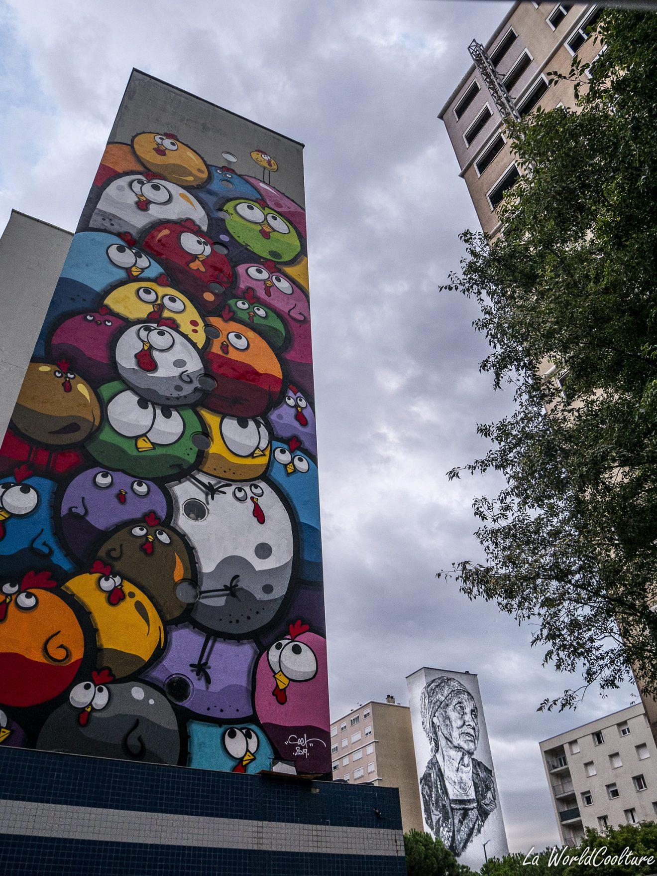 street-art de Ceet Fouad à Toulouse dans le quartier Empalot
