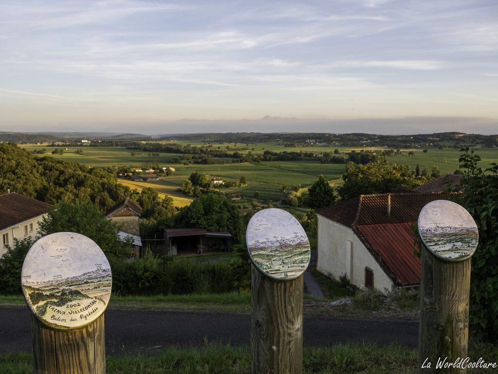 Beau point de vue dans le Gers à Cazaux Villecomtal