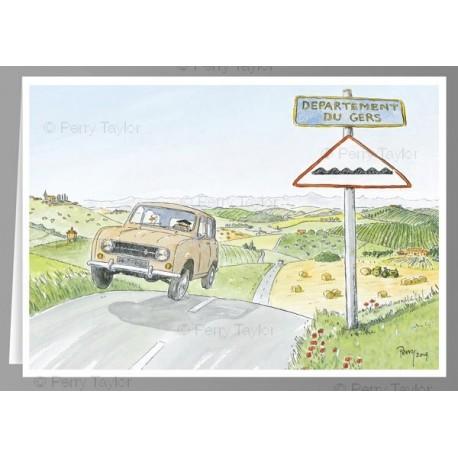 offrir des cartes postales humoristiques sur le Gers Perry Taylor